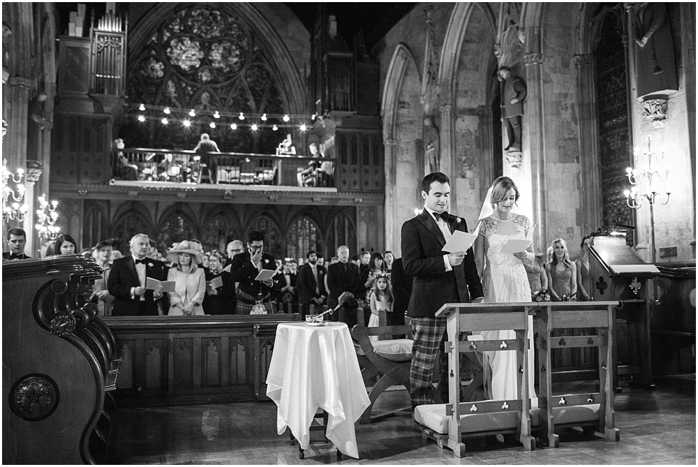 Singing in catholic church wedding