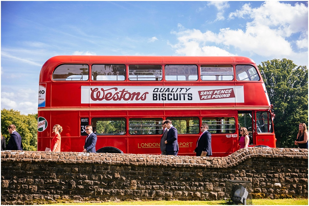 London bus at wedding