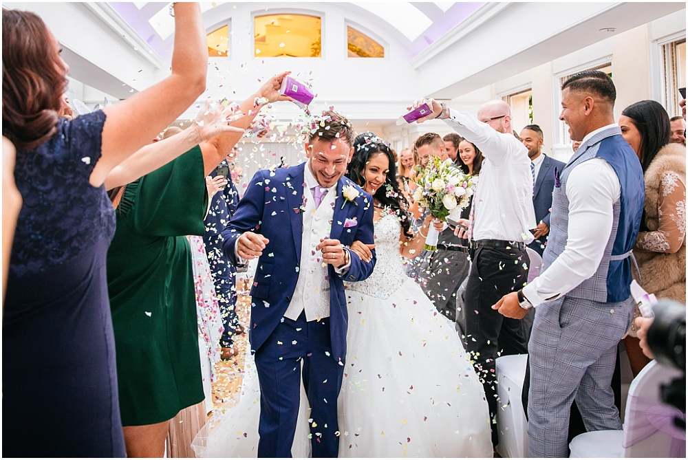 Confetti at pembroke lodge