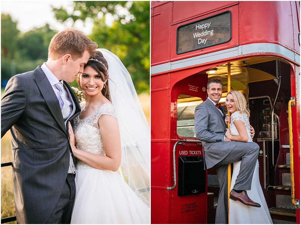 London bus for weddings in surrey