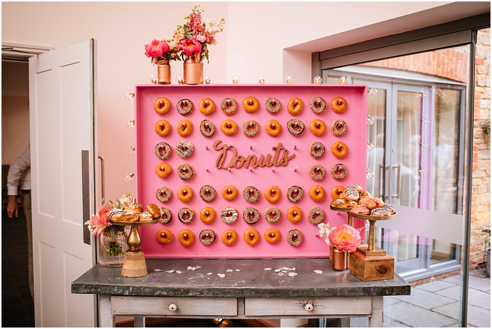 Kalm Kitchen donut wall