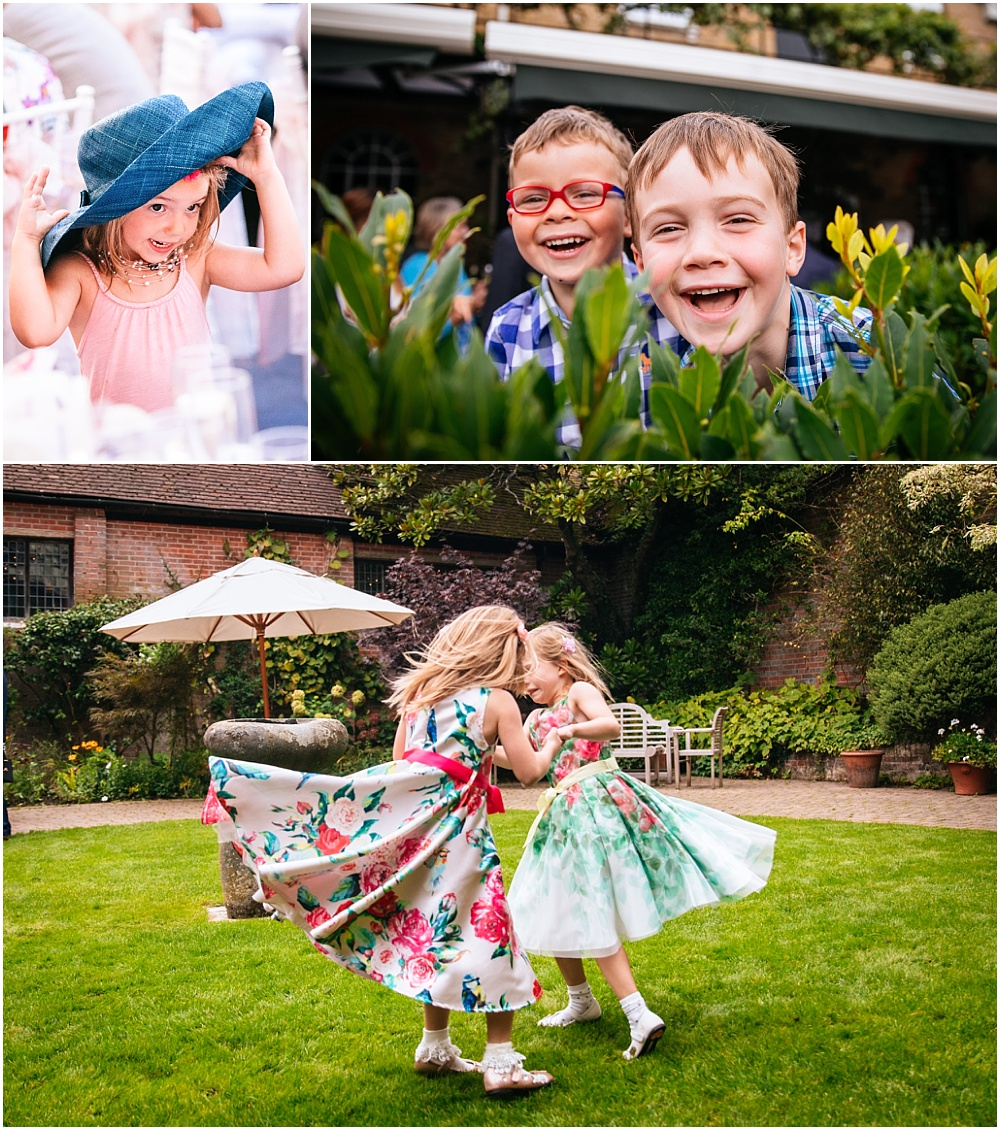 Cute children at wedding