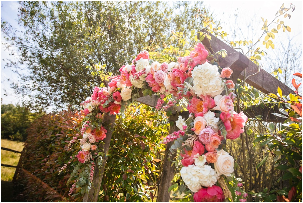Stunning floral arch at millbridge
