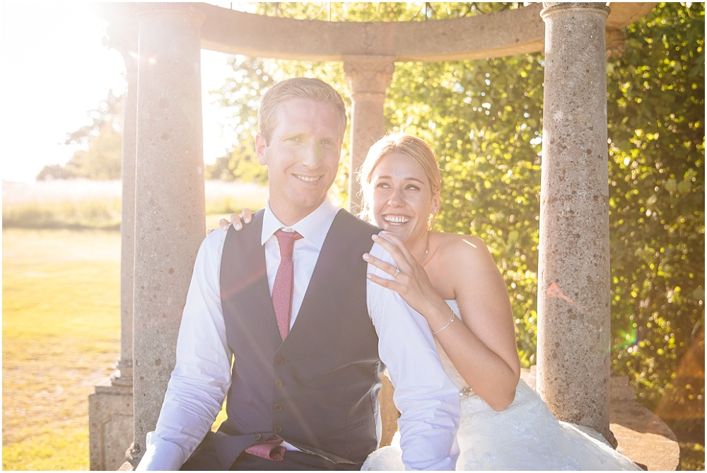 Golden hour couple portrait at micklefield hall