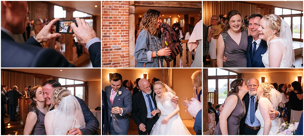 Candid photos of happy guests at wedding