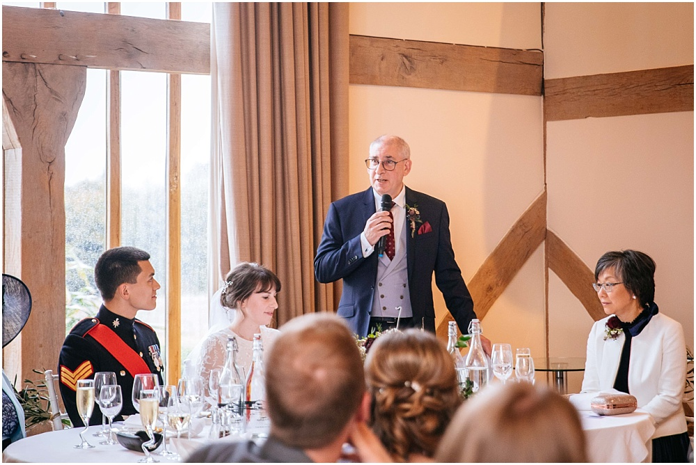 father of the bride makes speech