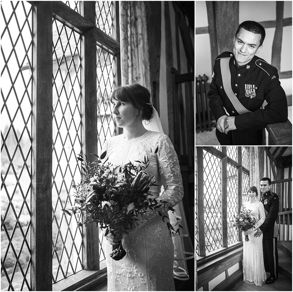 Indoor couple portraits at Cain Manor