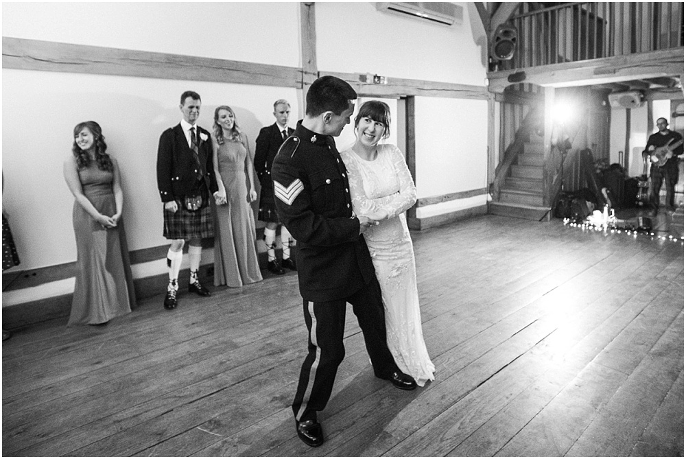First dance black and white photograph