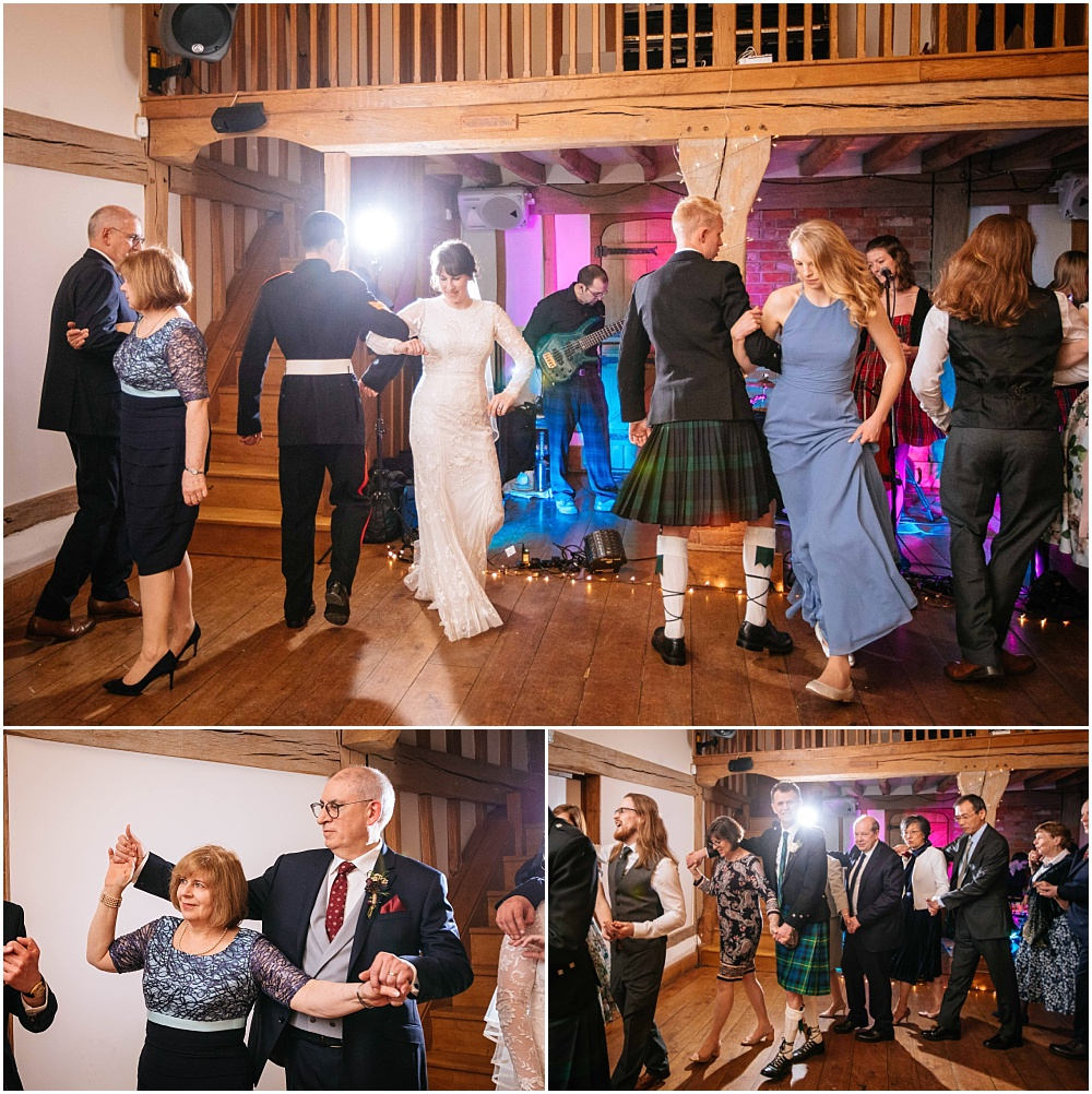 Wedding ceilidh dancing at cain manor