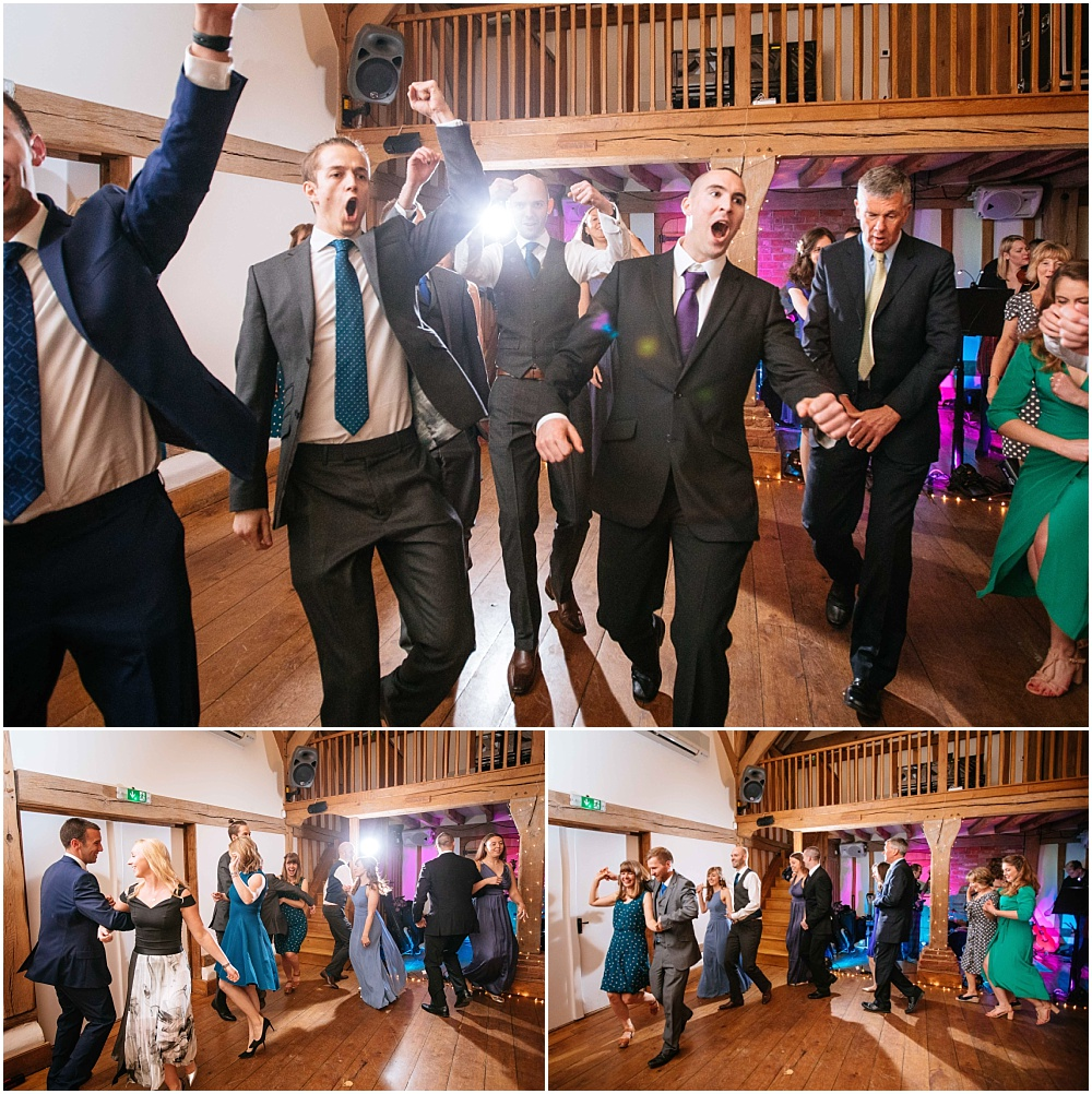 Fun dancing at wedding ceilidh