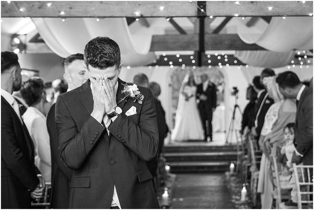 Farbridge wedding photography groom crying