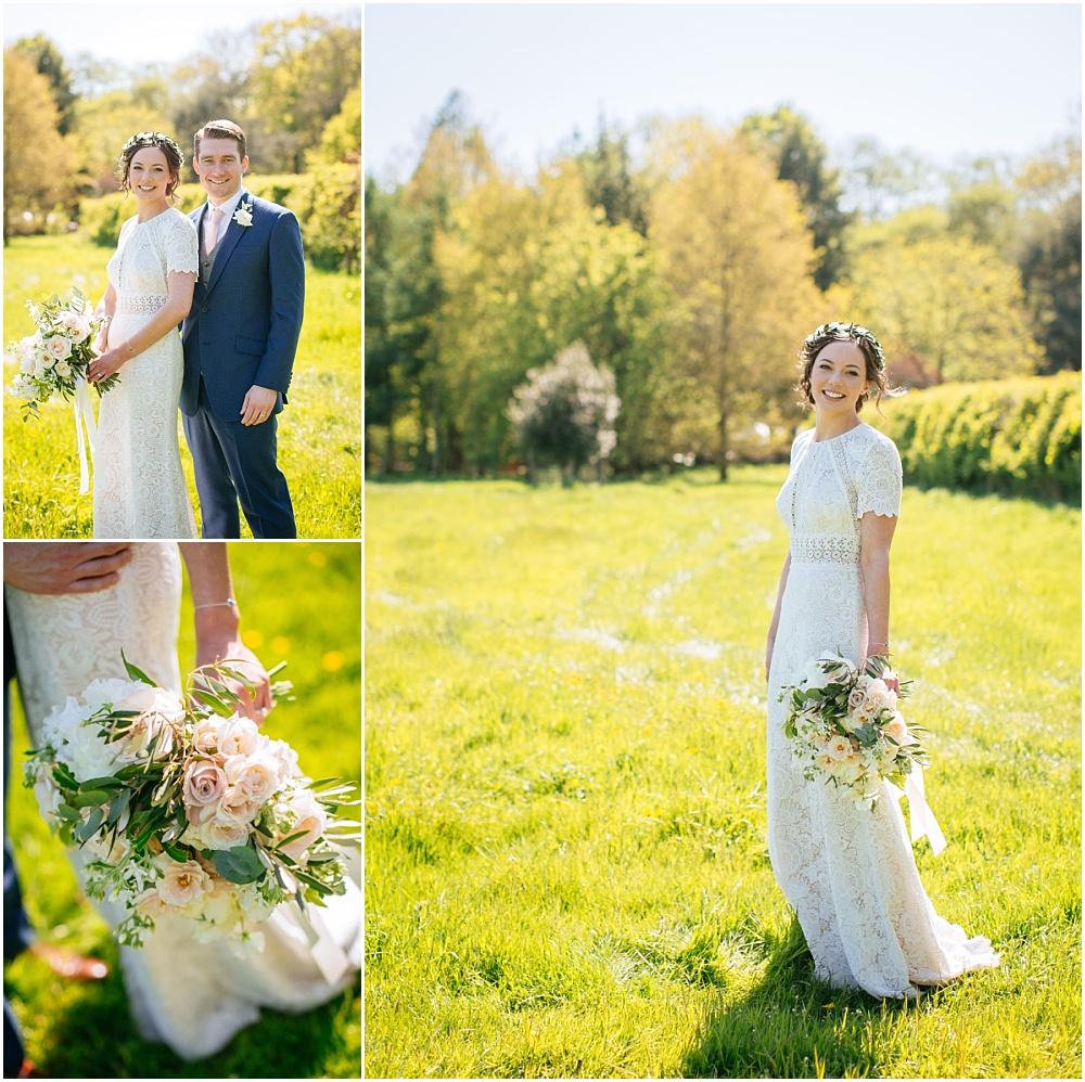 stunning bride in flower crown