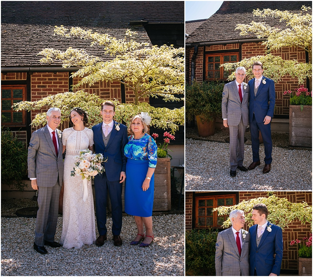 Relaxed group photos at gate street barn