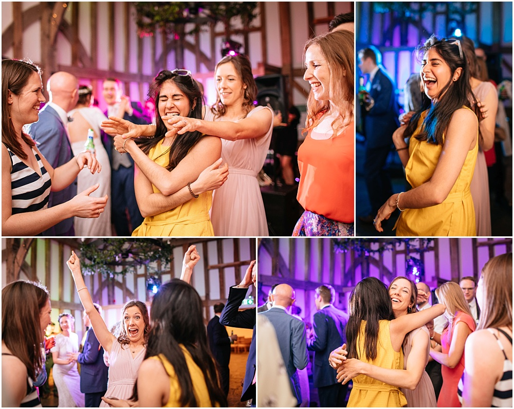 Lively dancing to rollercoaster wedding band