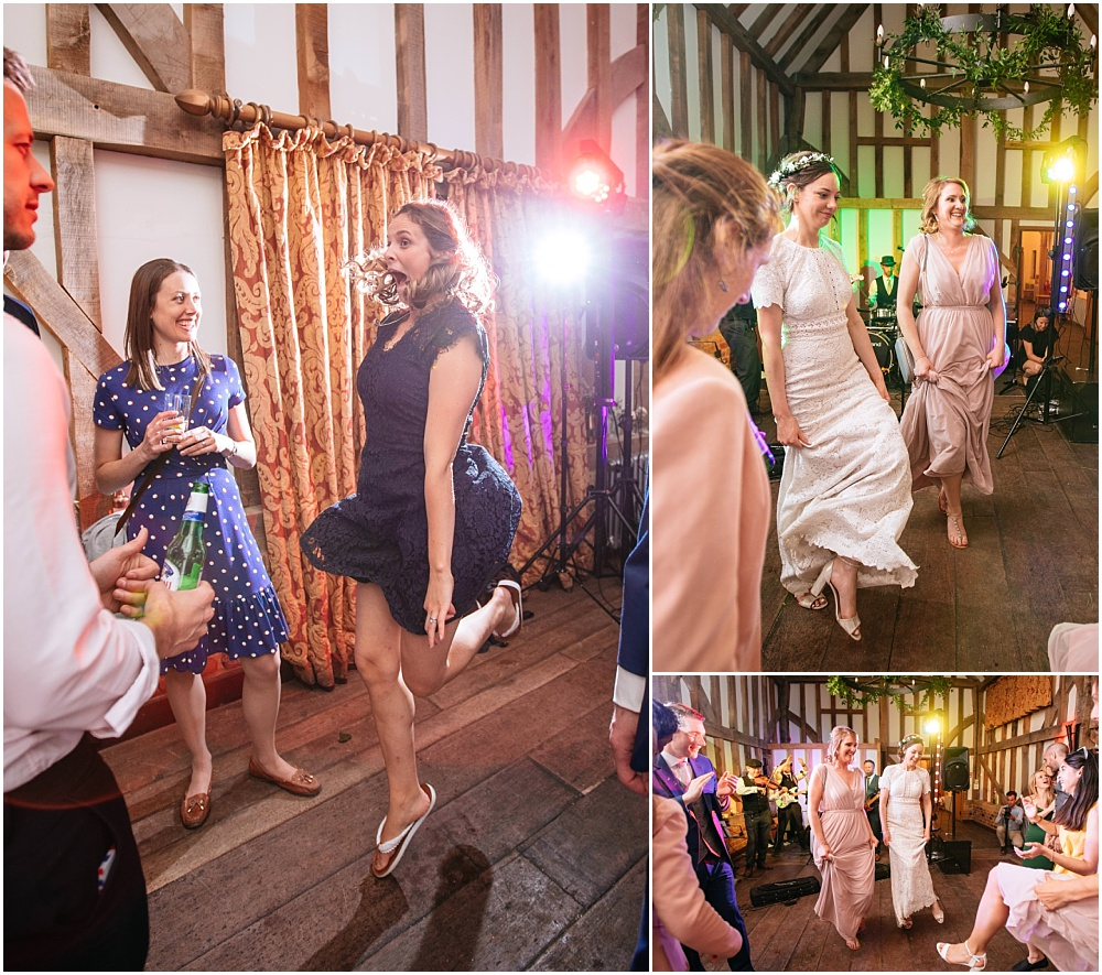 Gate street barn wedding dancing