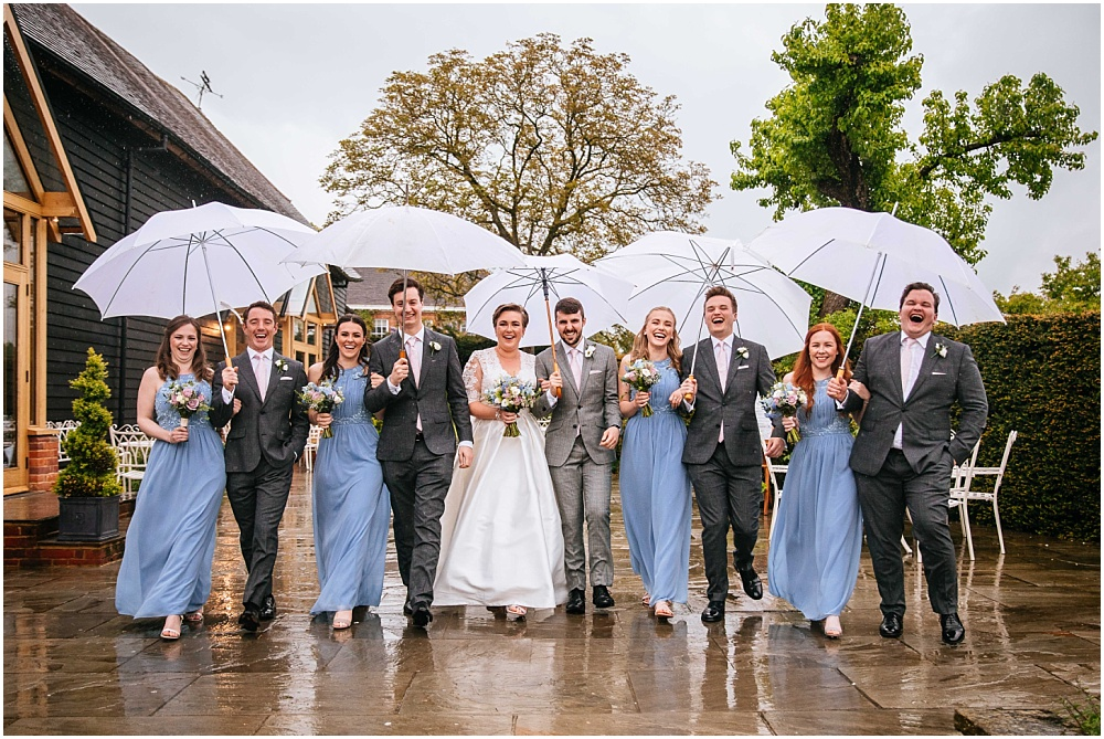 Micklefield hall wedding photography rainy