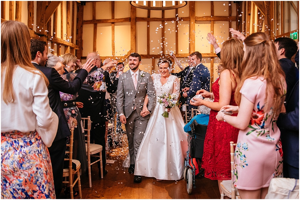 Indoor confetti at micklefield hall