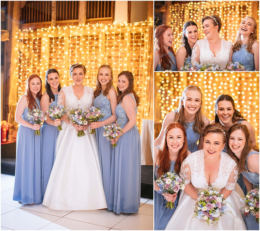 Indoors bridesmaids photograph at micklefield hall