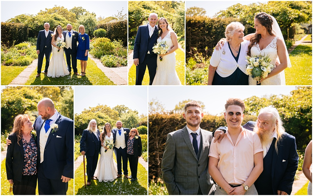 Relaxed group photographs at micklefield hall
