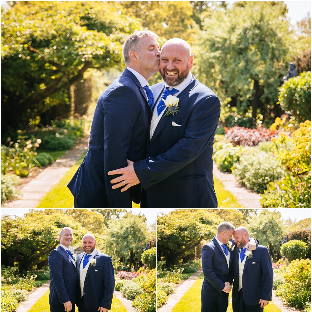 groom and best man bromance