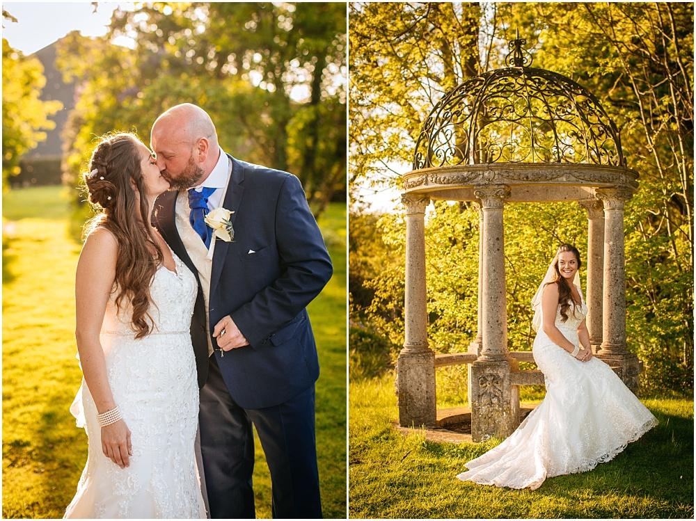 warm light wedding photography