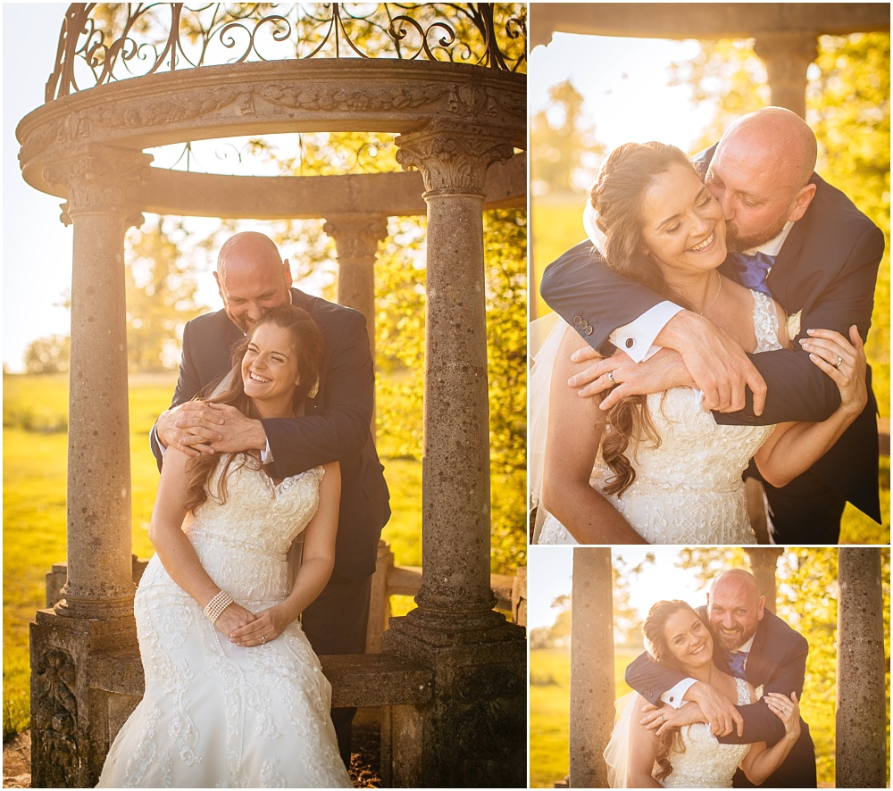 Micklefield hall golden hour couple portraits