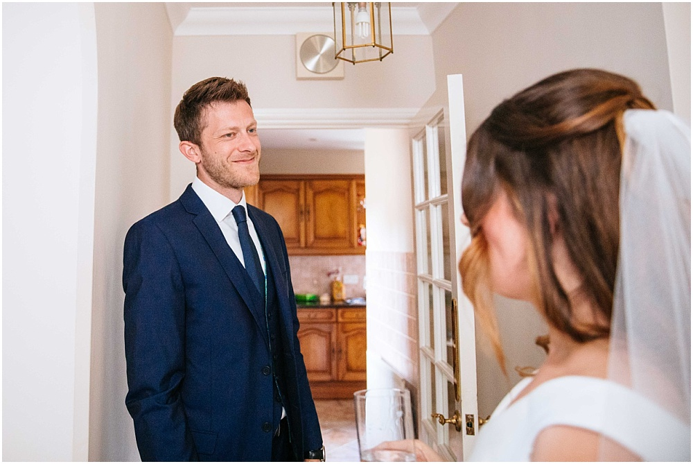 Brother seeing bride for the first time