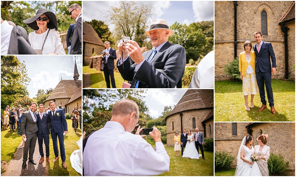 Guest photographs outside the church