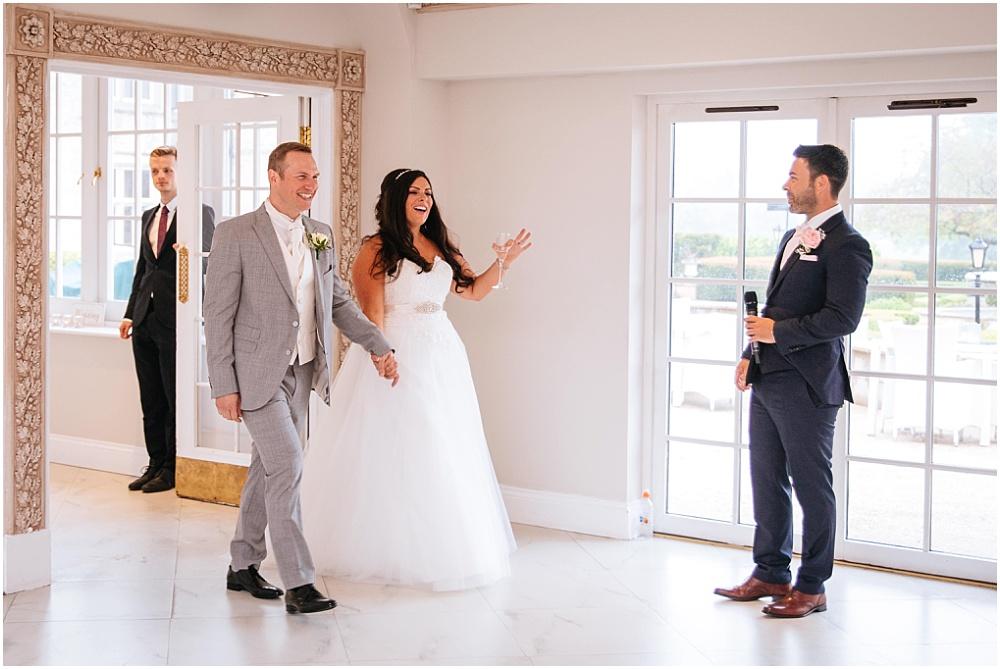 entrance of the newlyweds