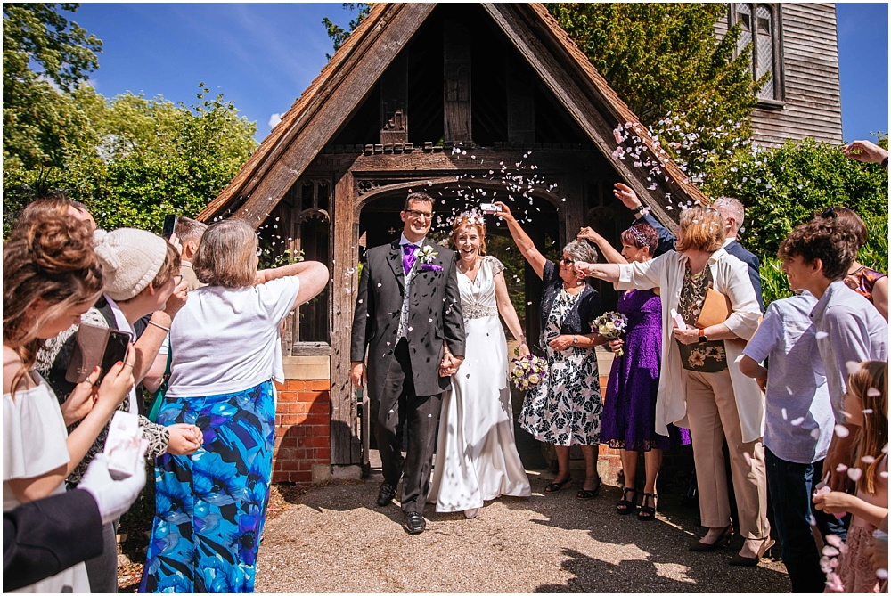 Surrey Wedding Photographer – Alison & Mark's back garden wedding