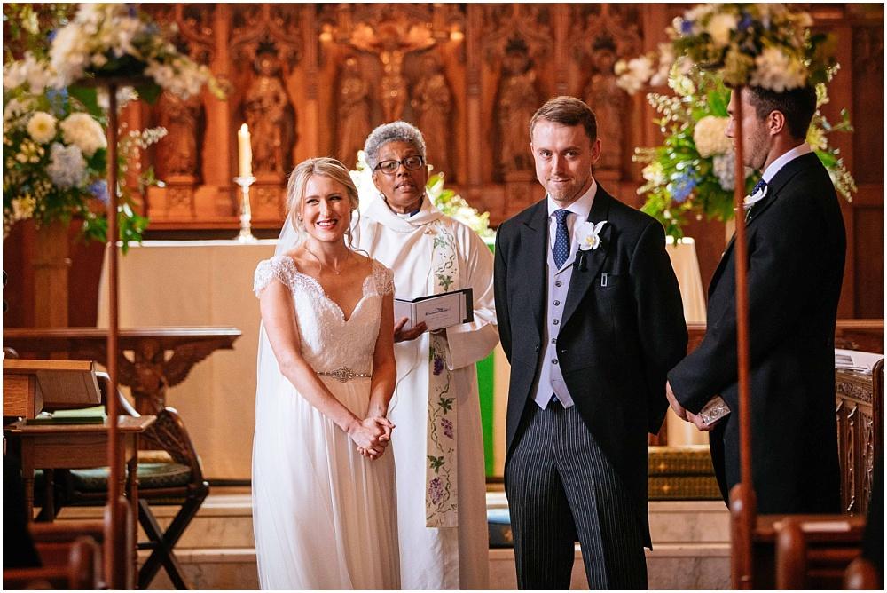 wedding ceremony in hertfordshire church