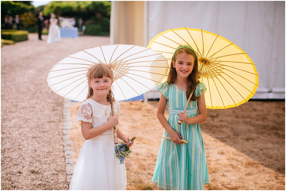 girls with parasols