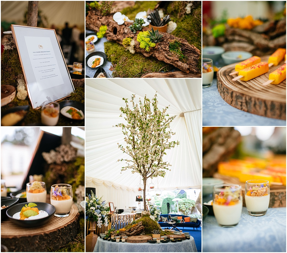 asian inspired pudding table