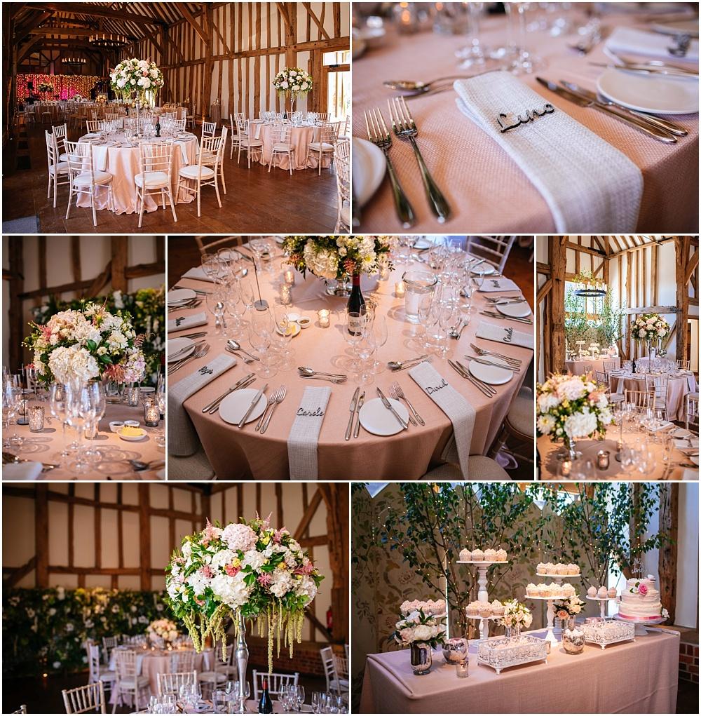Micklefield Hall wedding photography wedding breakfast details
