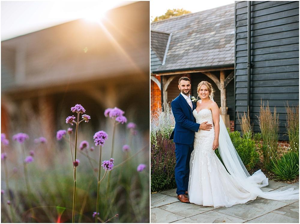 golden hour wedding photographs