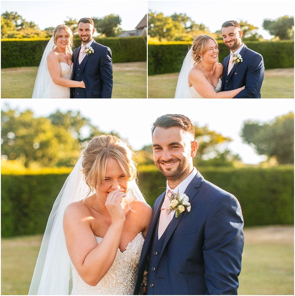 laughing during wedding photographs