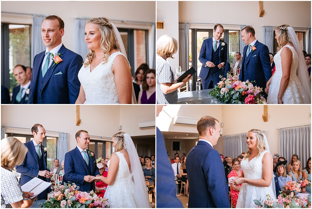 Millbridge court wedding ceremony