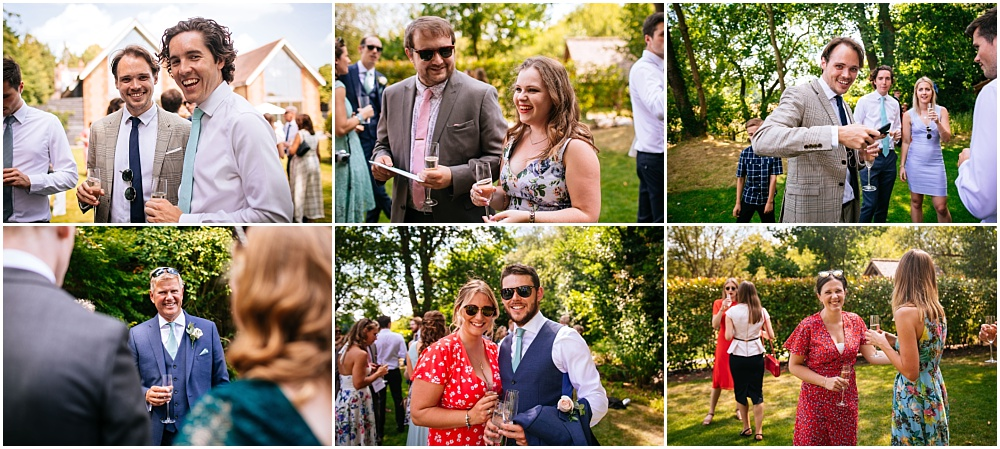 candid shots of guests enjoying themselves at ewdding
