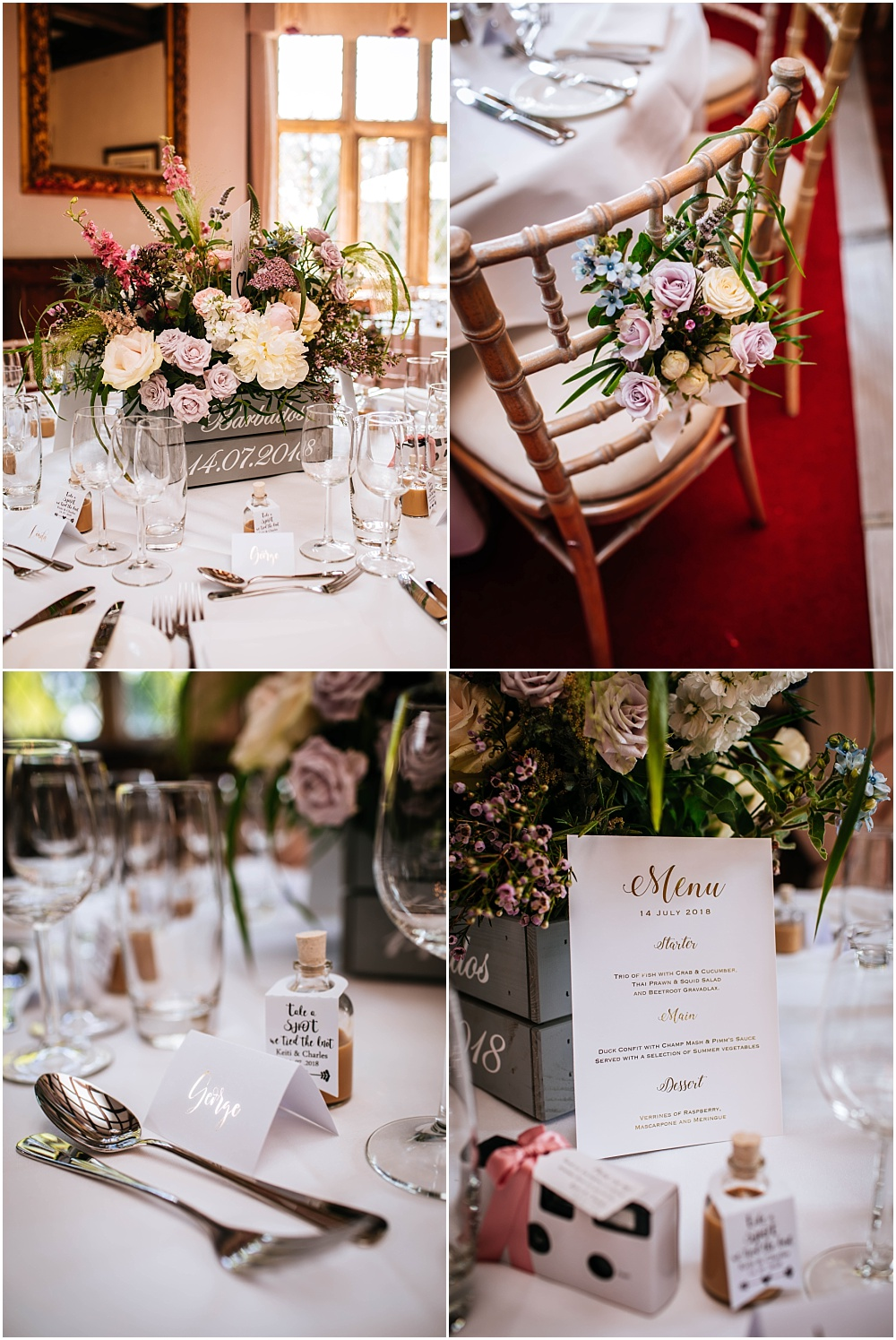 Smallfield place wedding breakfast details