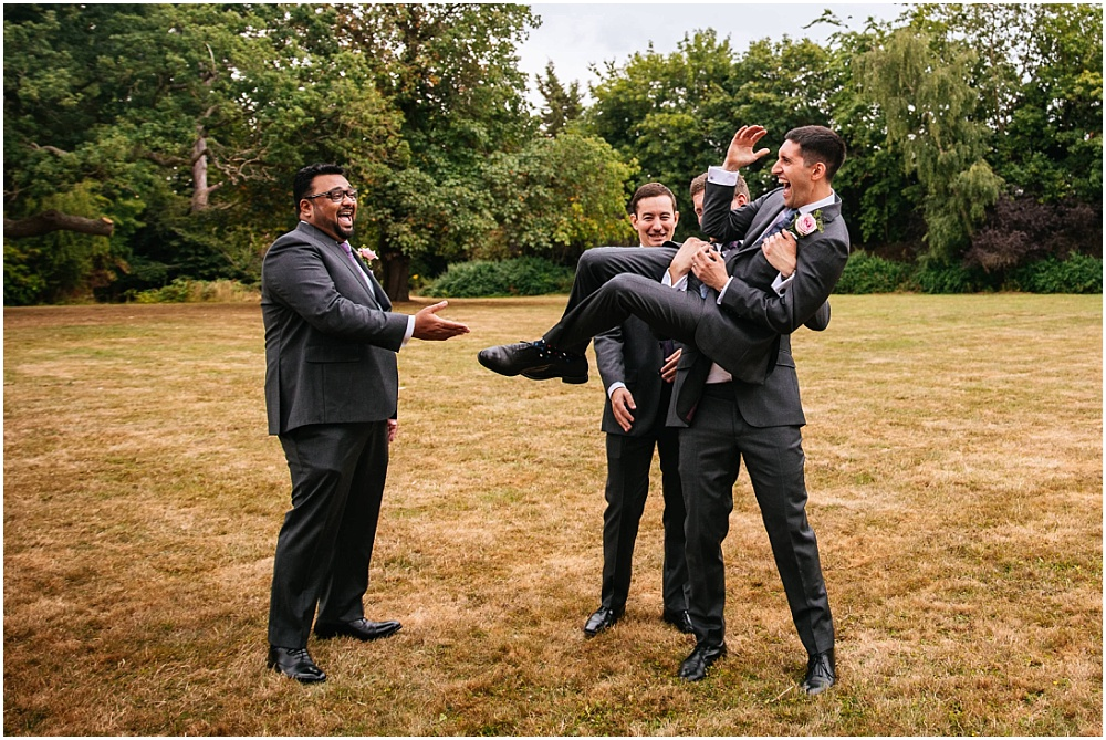 picking up the groom
