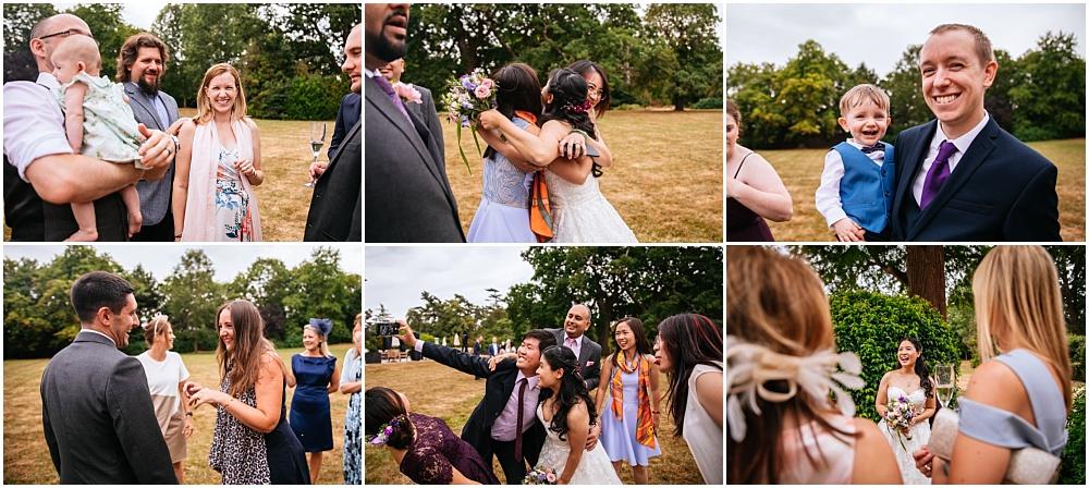 natural happy wedding photographs