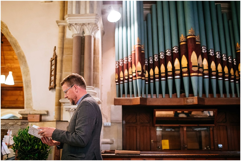 Vicar and large organ