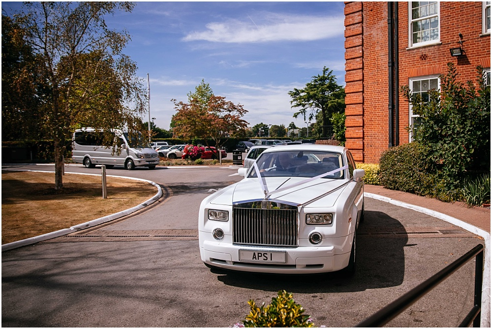 I cant remember if this is a rolls royce or a bentley but it is a big posh wedding car