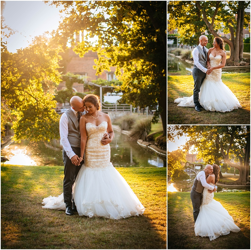 Great fosters wedding photography bride and groom golden hour