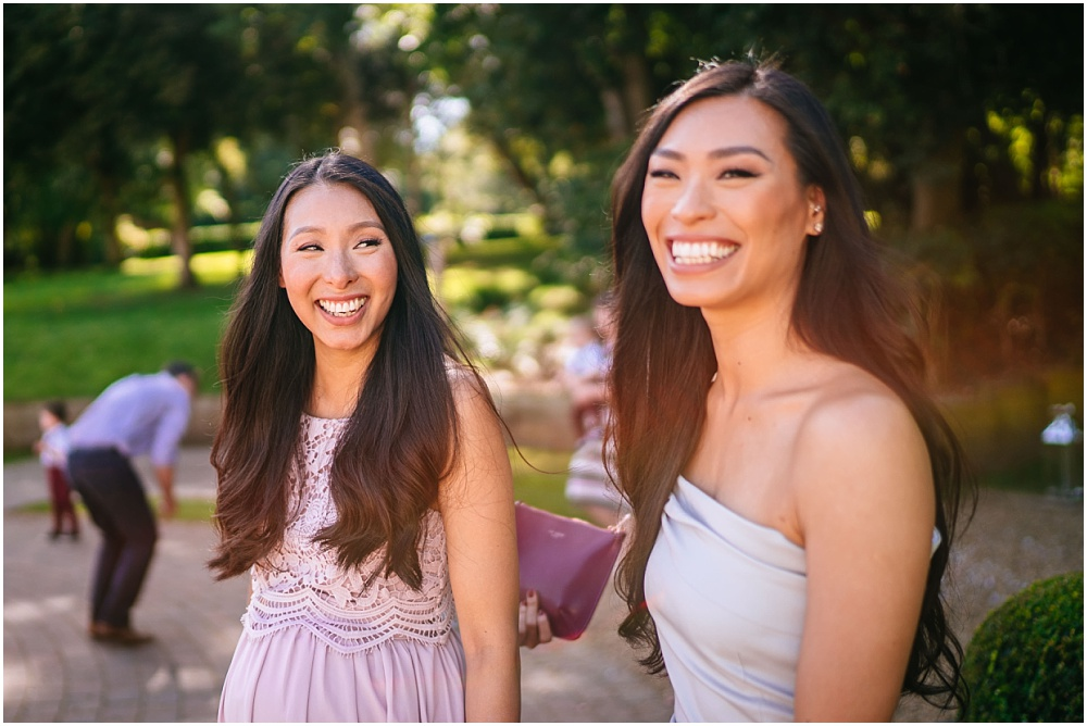 smiling sisters