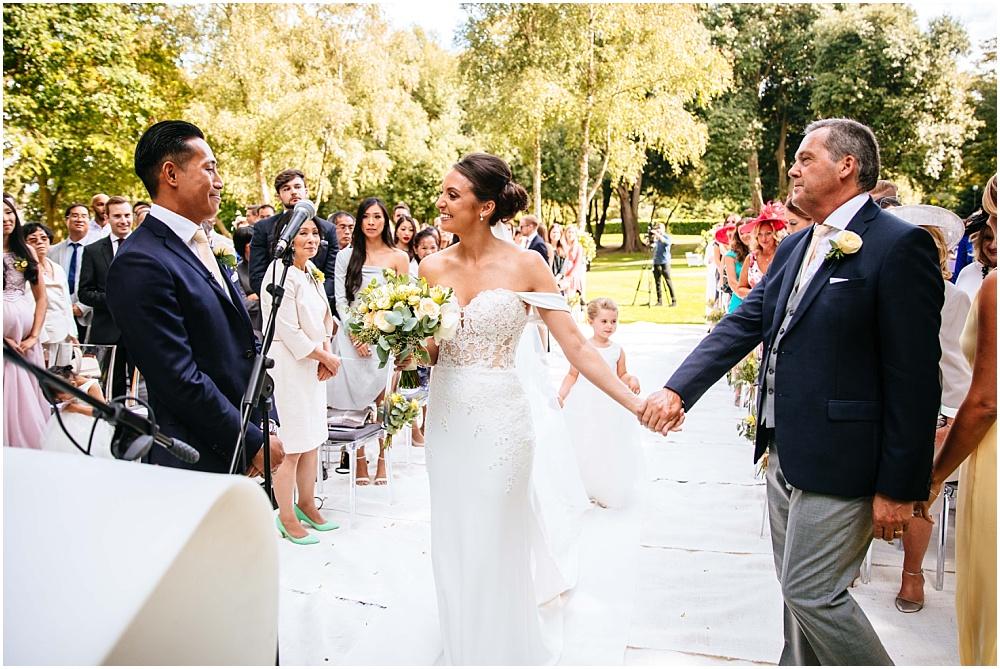 outdoor wedding ceremony in september