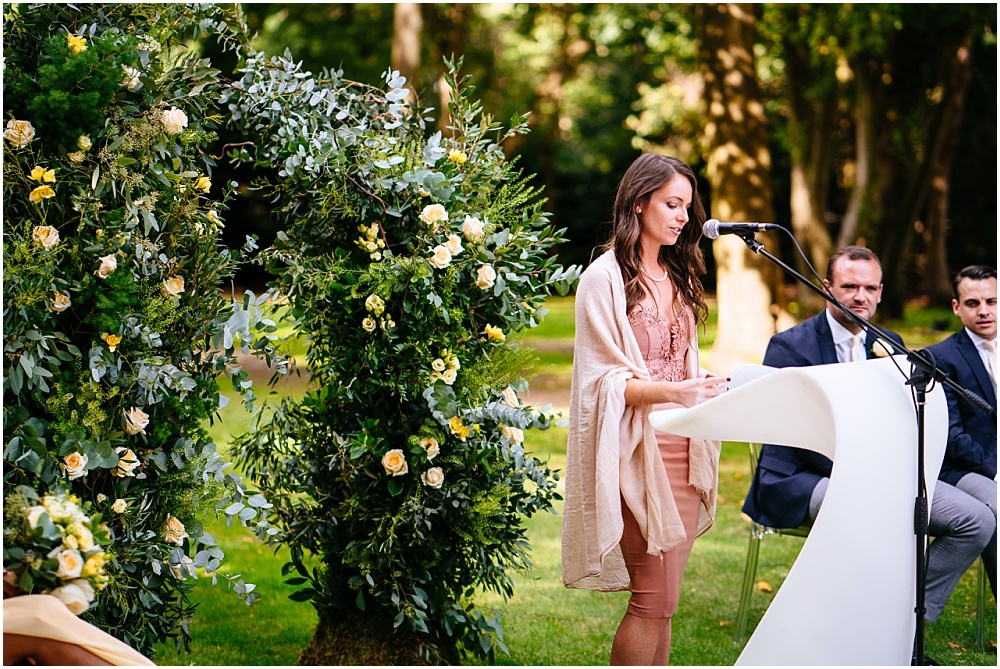 friend doing the wedding ceremony