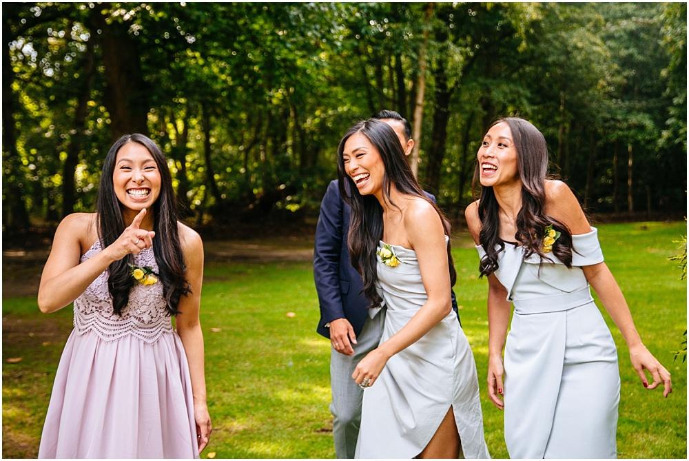 beautiful laughing sisters
