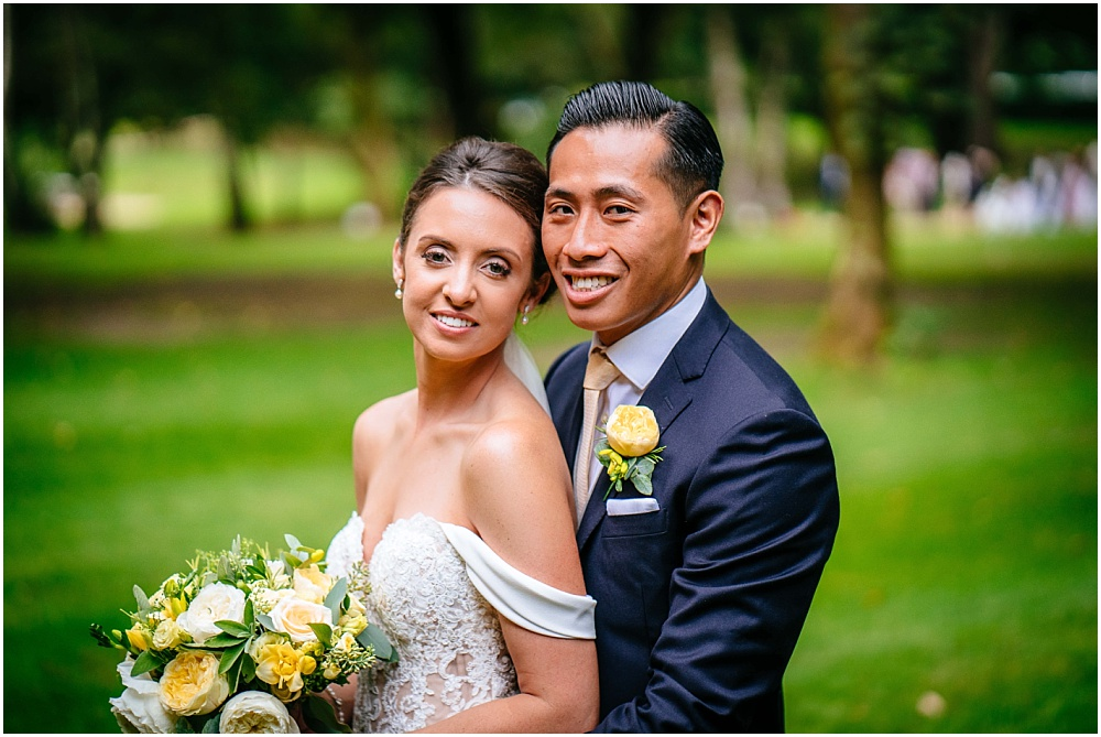 Bride and groom and milsoms kesgrave hall