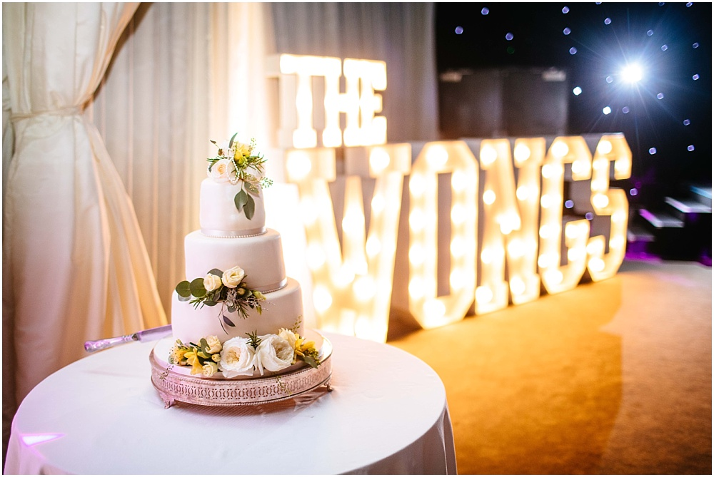 cake and light up letters